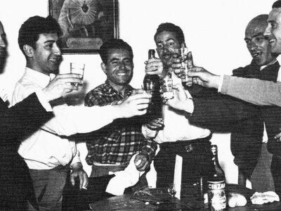 Dinar de la colla de l'Schola Cantorum a la Trinitat l'any 1951 | Font: Juli Delclós Egea