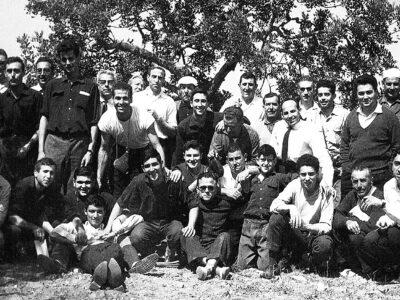 Costellada de les caramelles de l'Schola Cantorum l'any 1964 | Font: Juli Delclós Egea