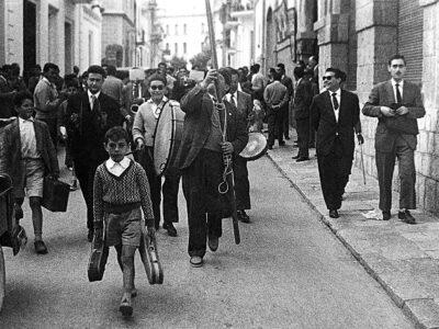 Colla de caramelles del Prado de la dècada de 1940 | Font: Sebastià Giménez Mirabent