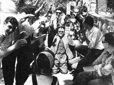 Dinar de la colla de l'Schola Cantorum l'any 1965 | Font: Manel Martí Mirabent