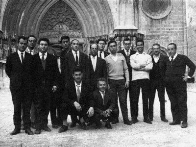 Excursió a Poblet de la colla de l'Schola Cantorum l'any 1965 | Font: Juli Delclós Egea