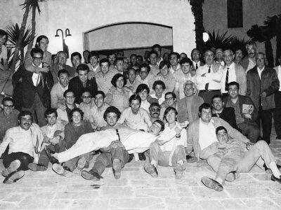 Dinar a Mas Mestre de la colla de l'Schola Cantorum l'any 1972 | Font: Juli Delclós Egea