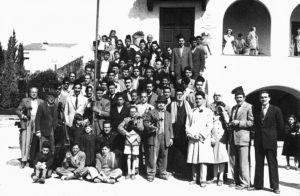 Colla de caramelles de l'Schola Cantorum l'any 1950 | Font: Juli Delclós Egea